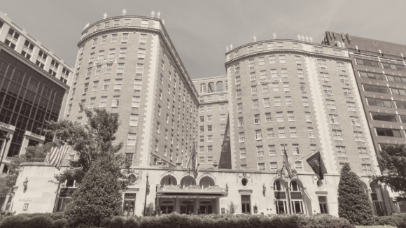Exterior of Mayflower Hotel Washington DC