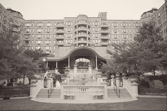 Exterior front of Omni Shoreham Hotel