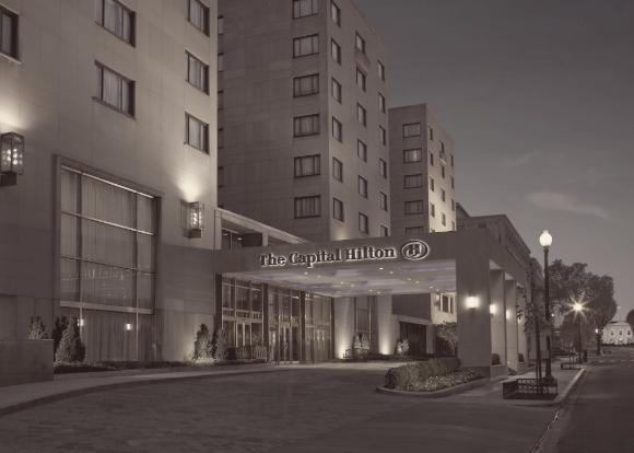 The Capital Hilton front entrance exterior