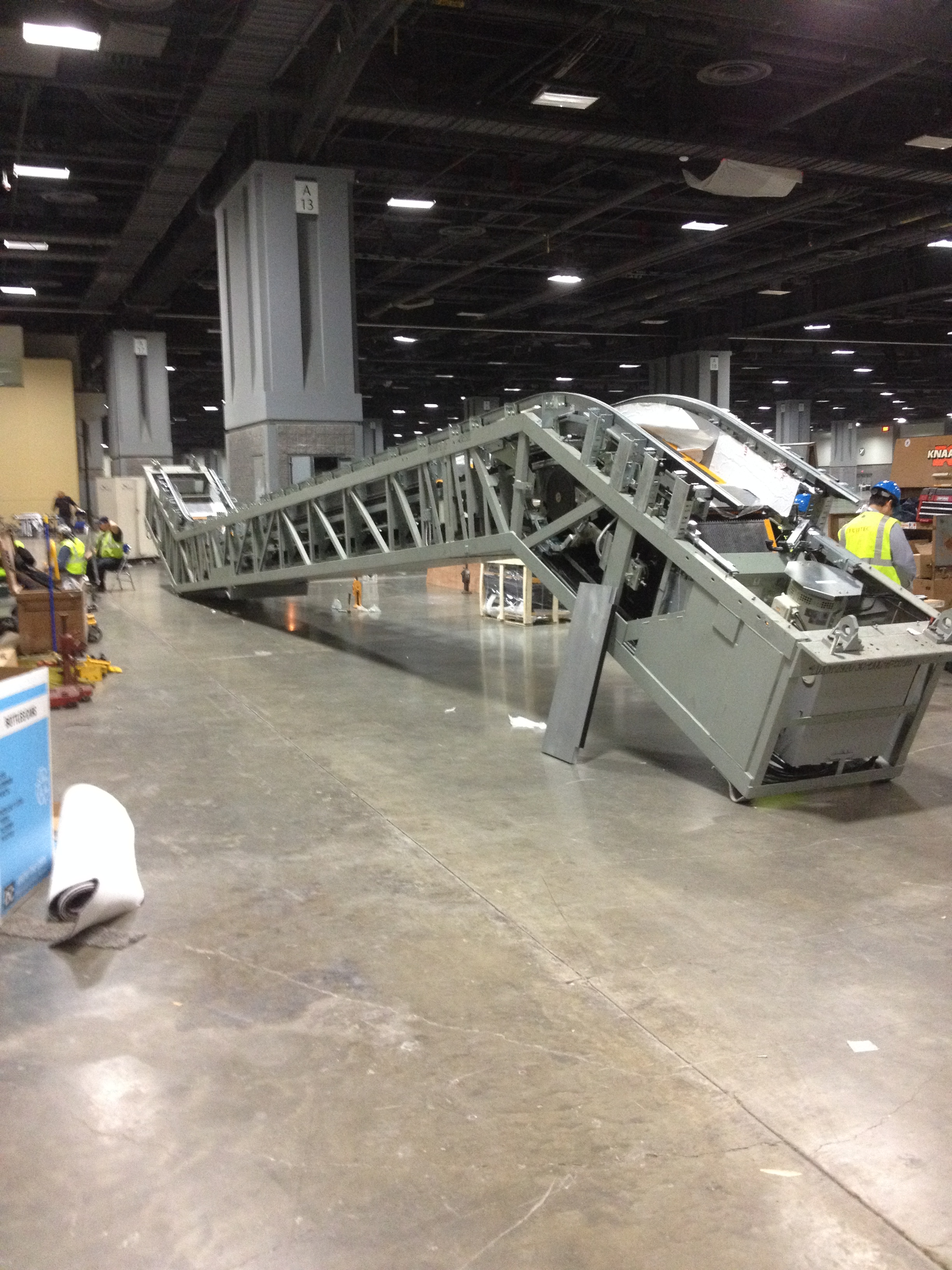 Escalator assembled and ready to set