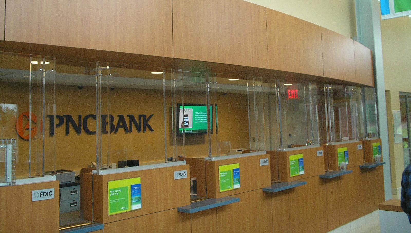 Renovated PNC Bank front desk