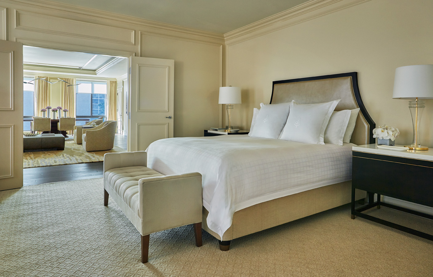 Four Seasons hotel guest suite in Washington, DC