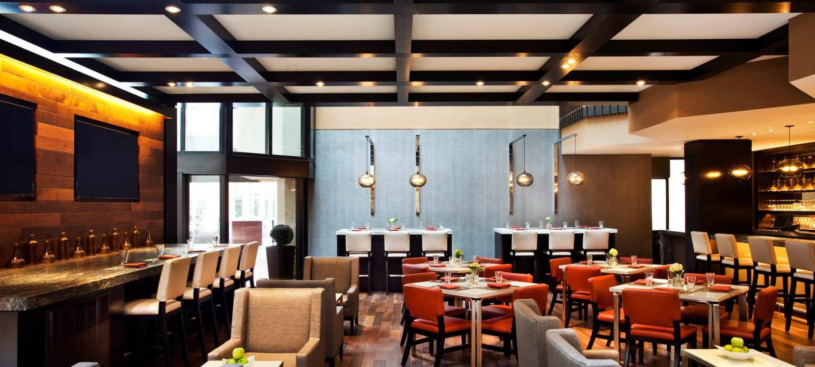 Renovated bar and dining space at The Westin Washington