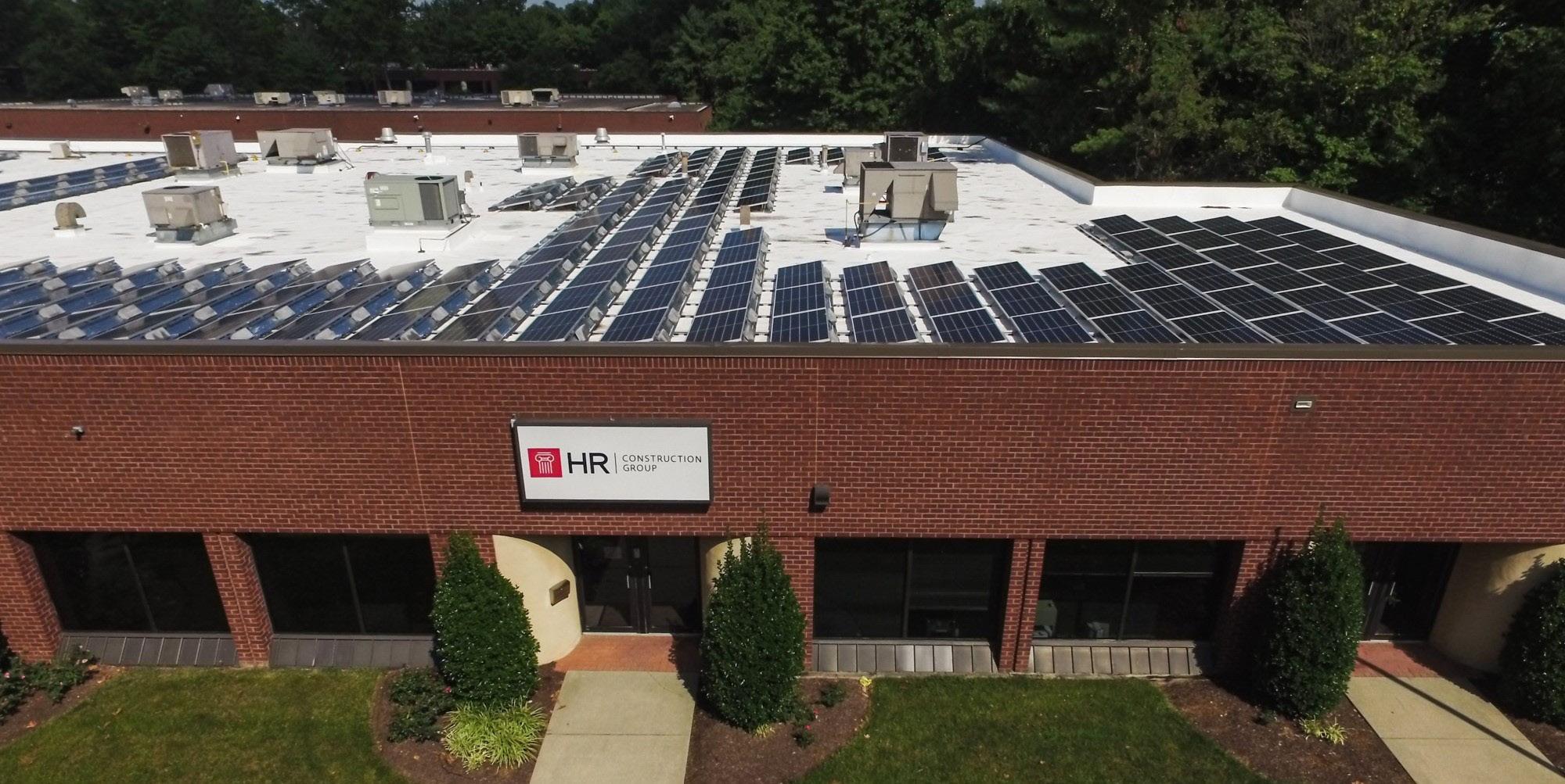 HR Construction building solar panel view