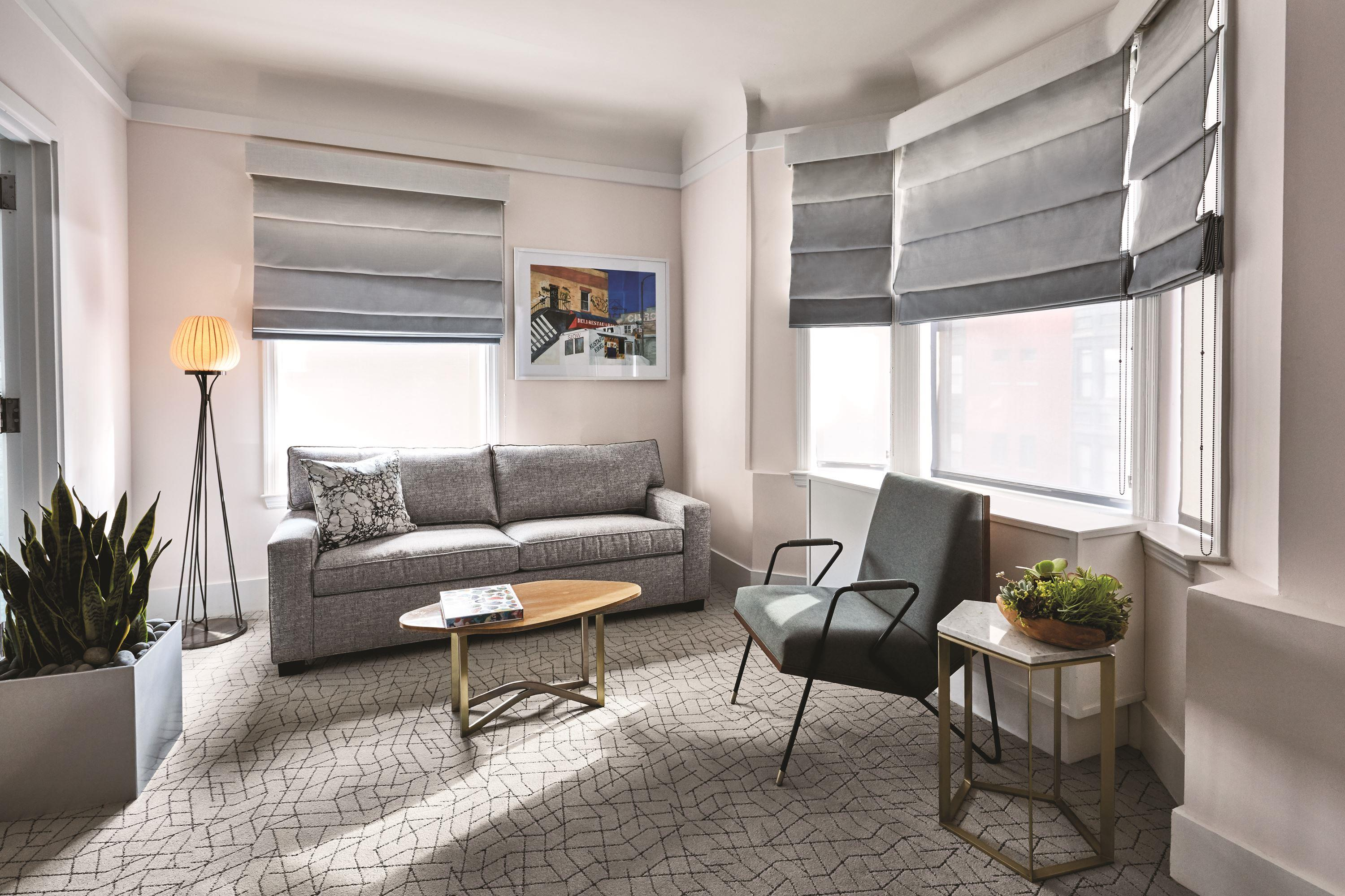 The James New York king suite living room
