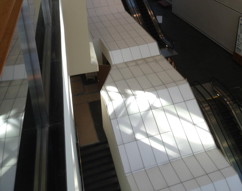 Escalator aerial view