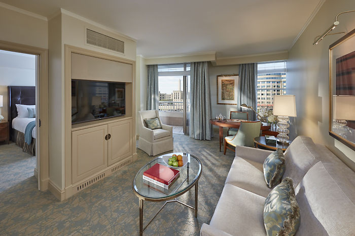 Executive suite living room at the Mandarin Oriental in DC