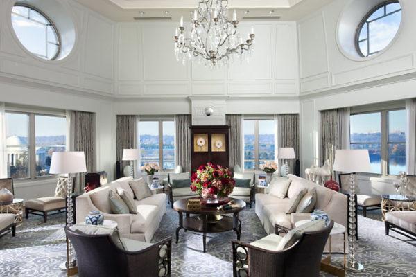 Mandarin Oriental DC presidential suite living room