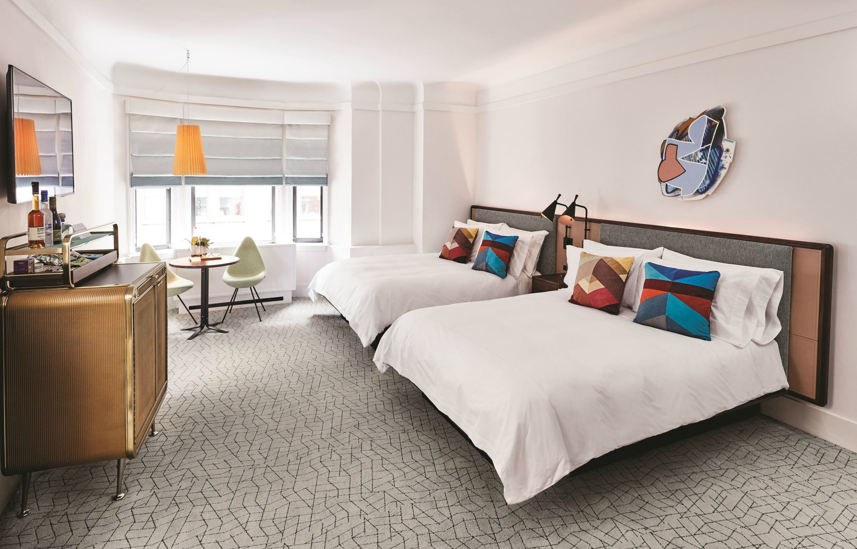 The James New York - Nomad Deluxe two queen bed guestroom