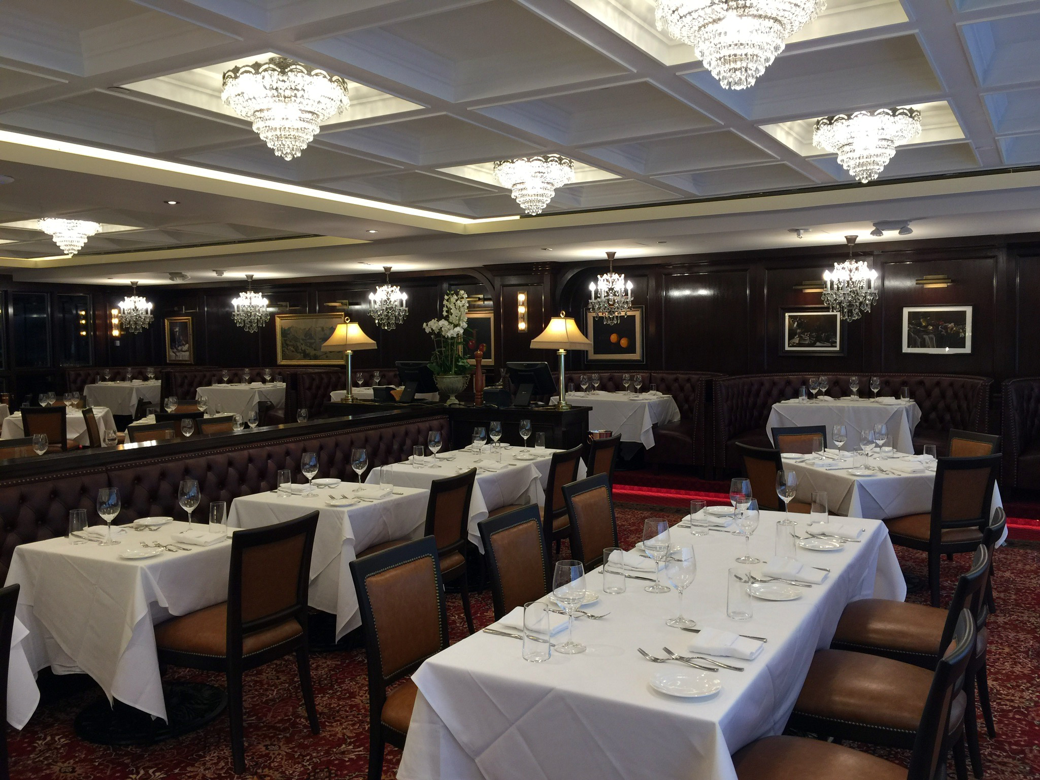 Rare Steak & Seafood dining room