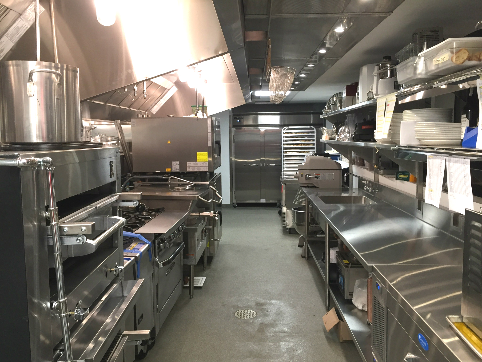 Rare Steak & Seafood renovated kitchen