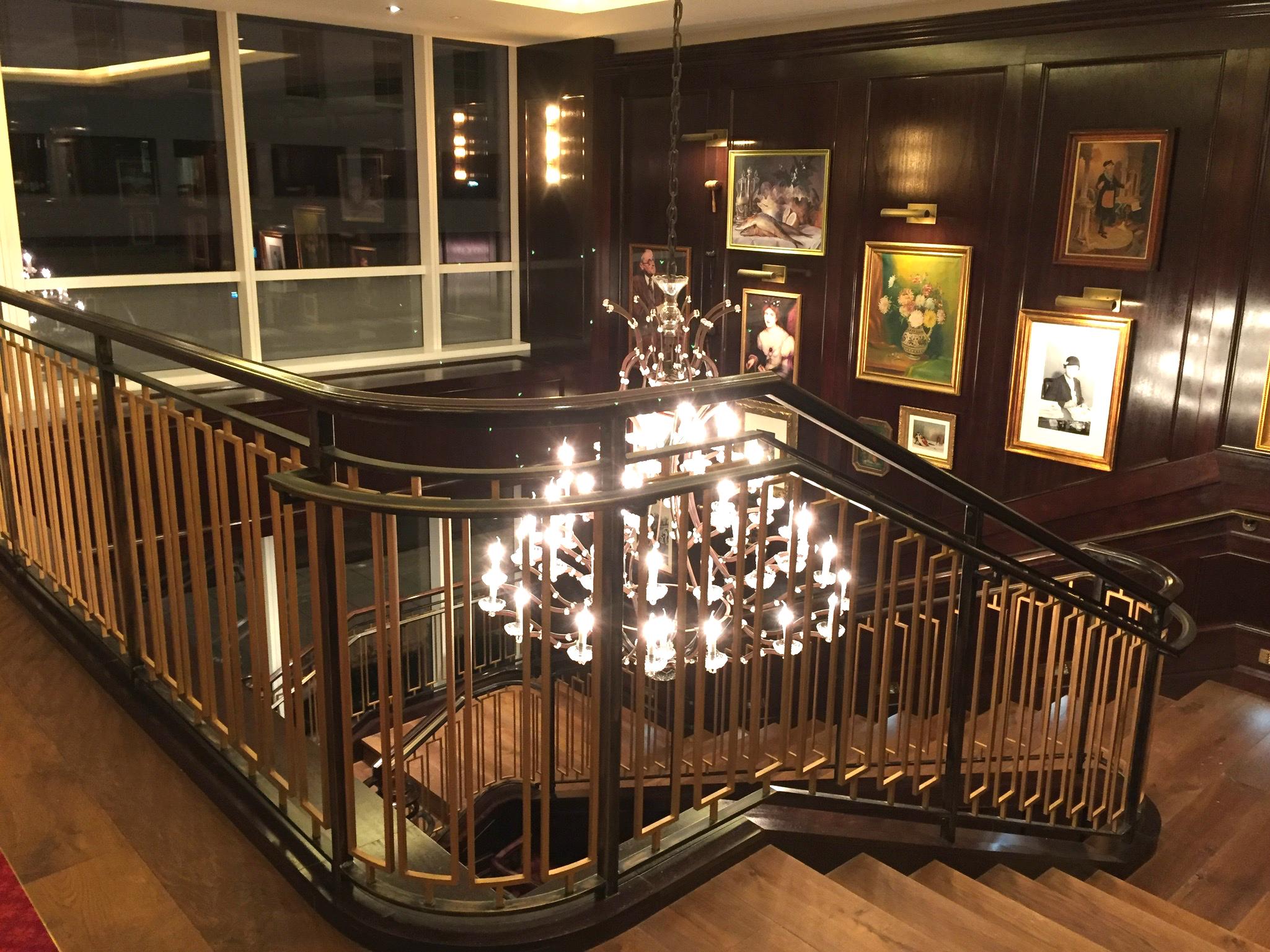 Rare Steak & Seafood restaurant stairway