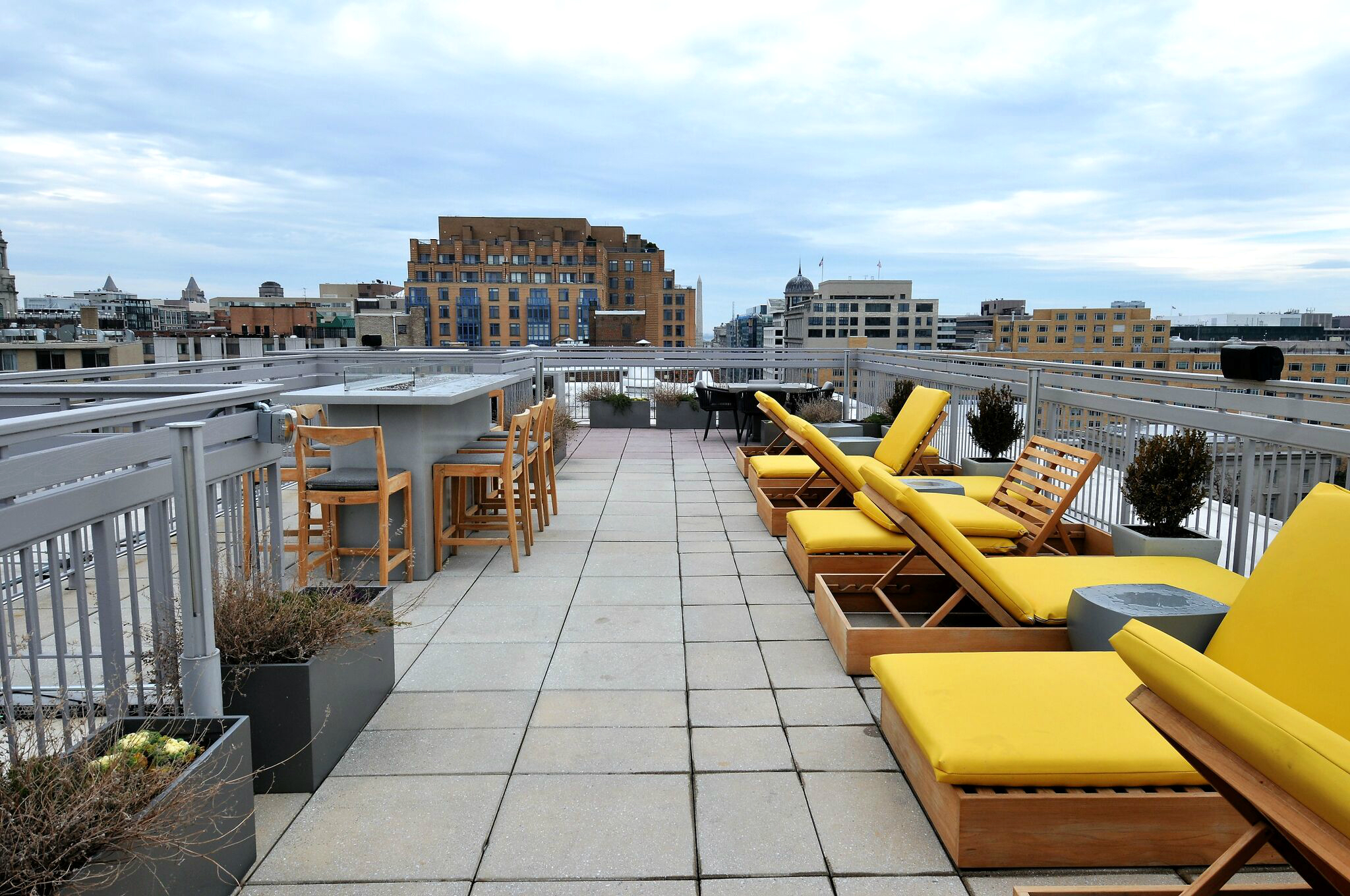 Latrobe Apartments rooftop seating