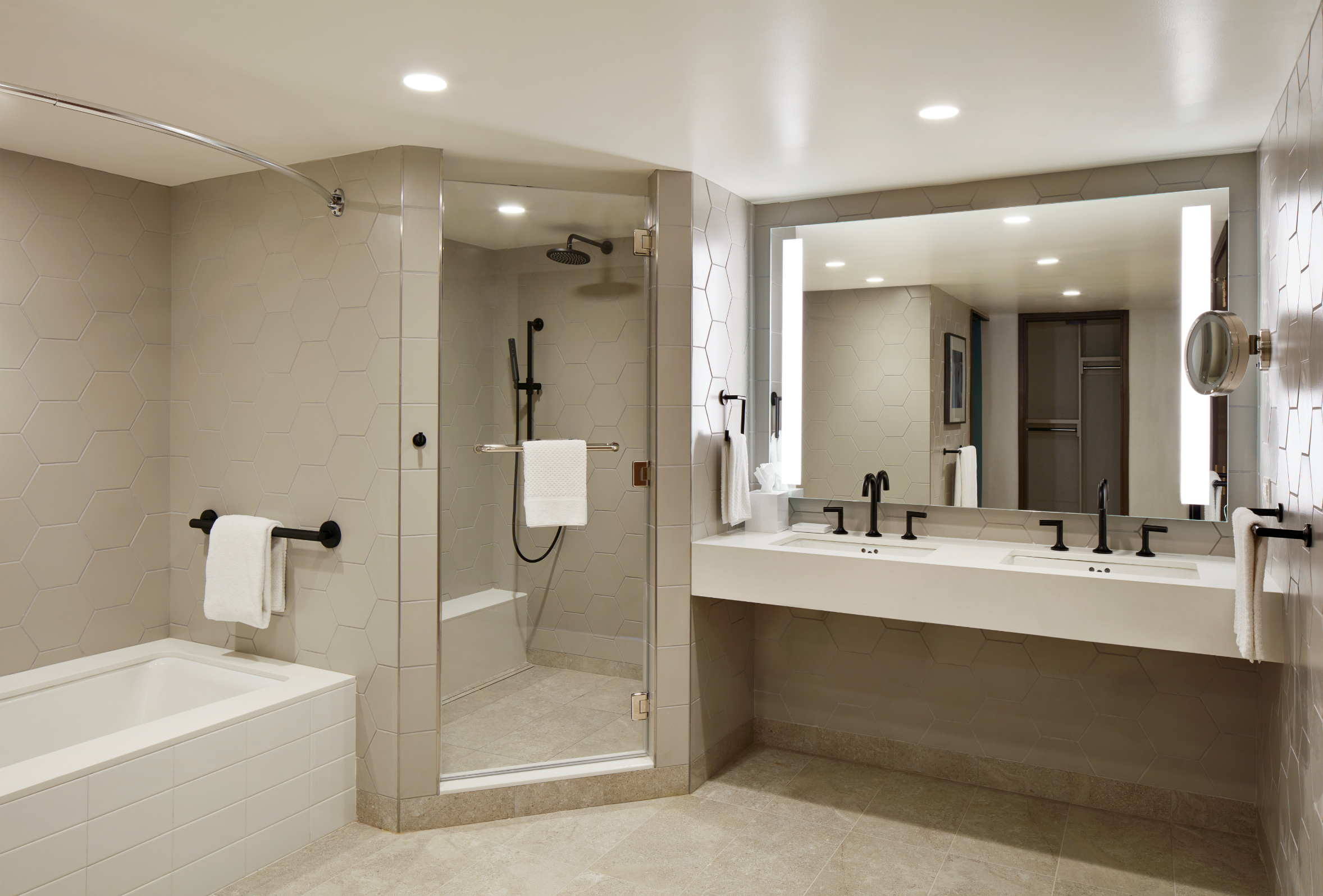 New York Hilton Midtown renovated bathroom