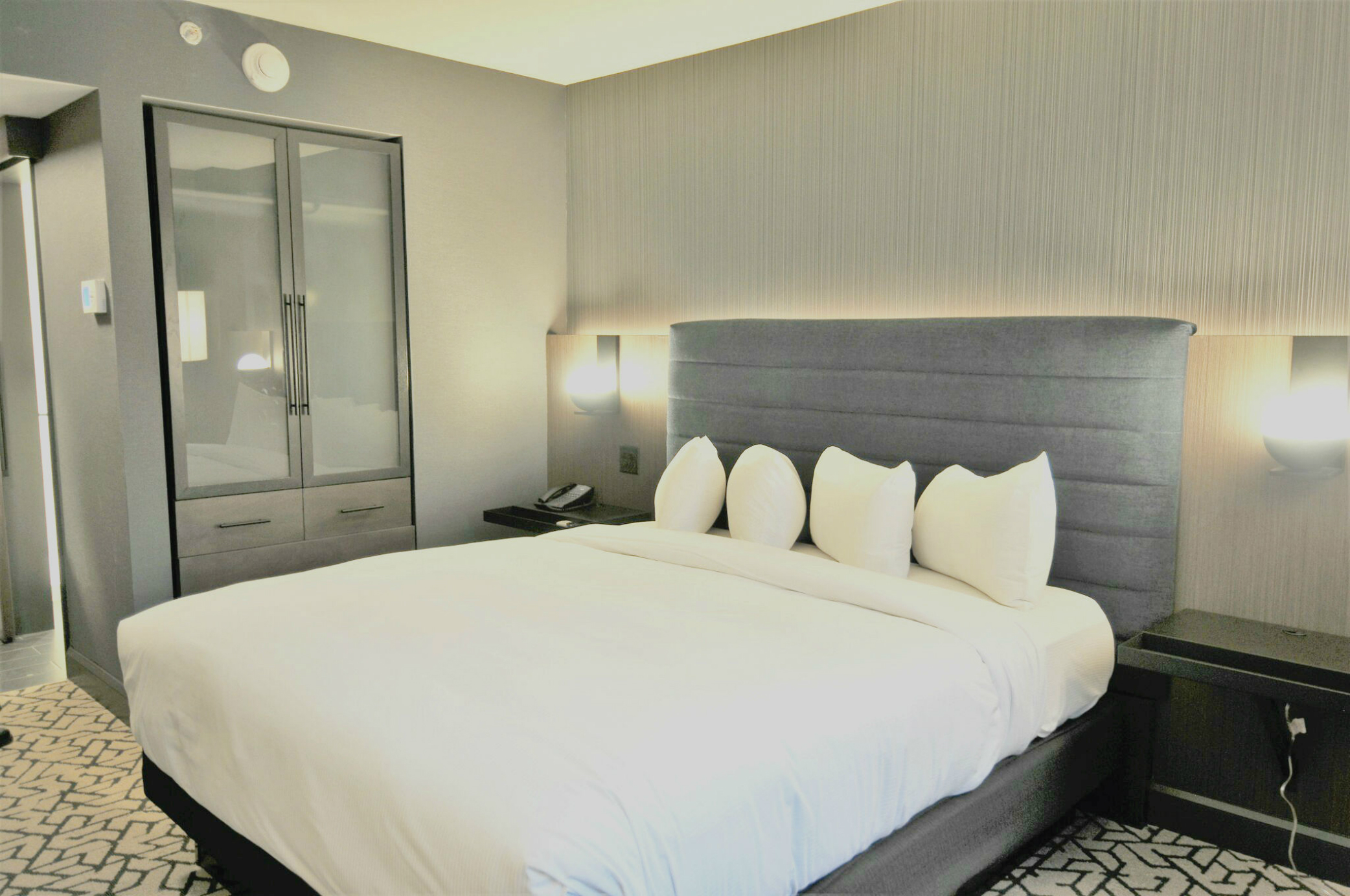 Renovated guest bedroom at The Washington Hilton