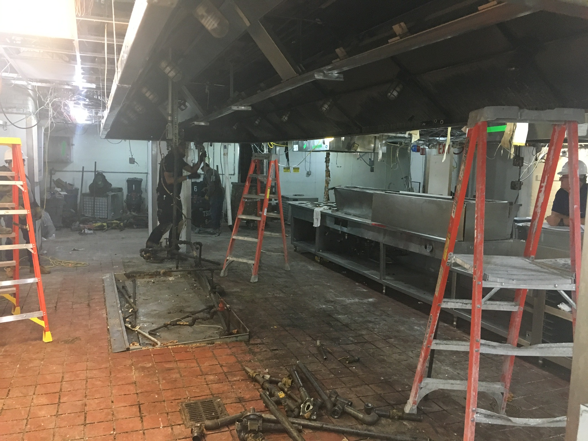 The Carlyle A Rosewood Hotel kitchen demolition of existing fixtures