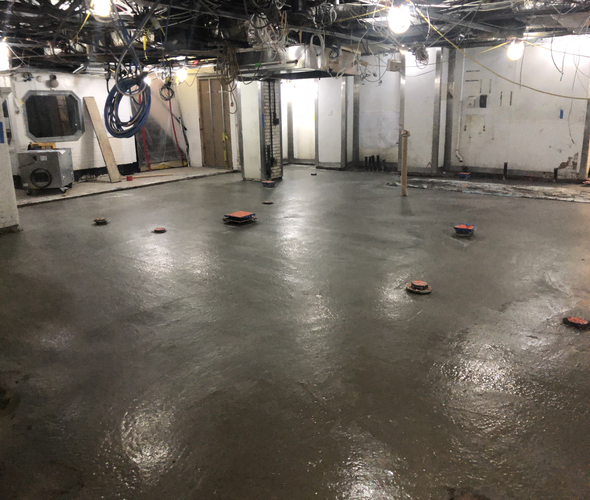 New concrete slab installed in The Carlyle kitchen