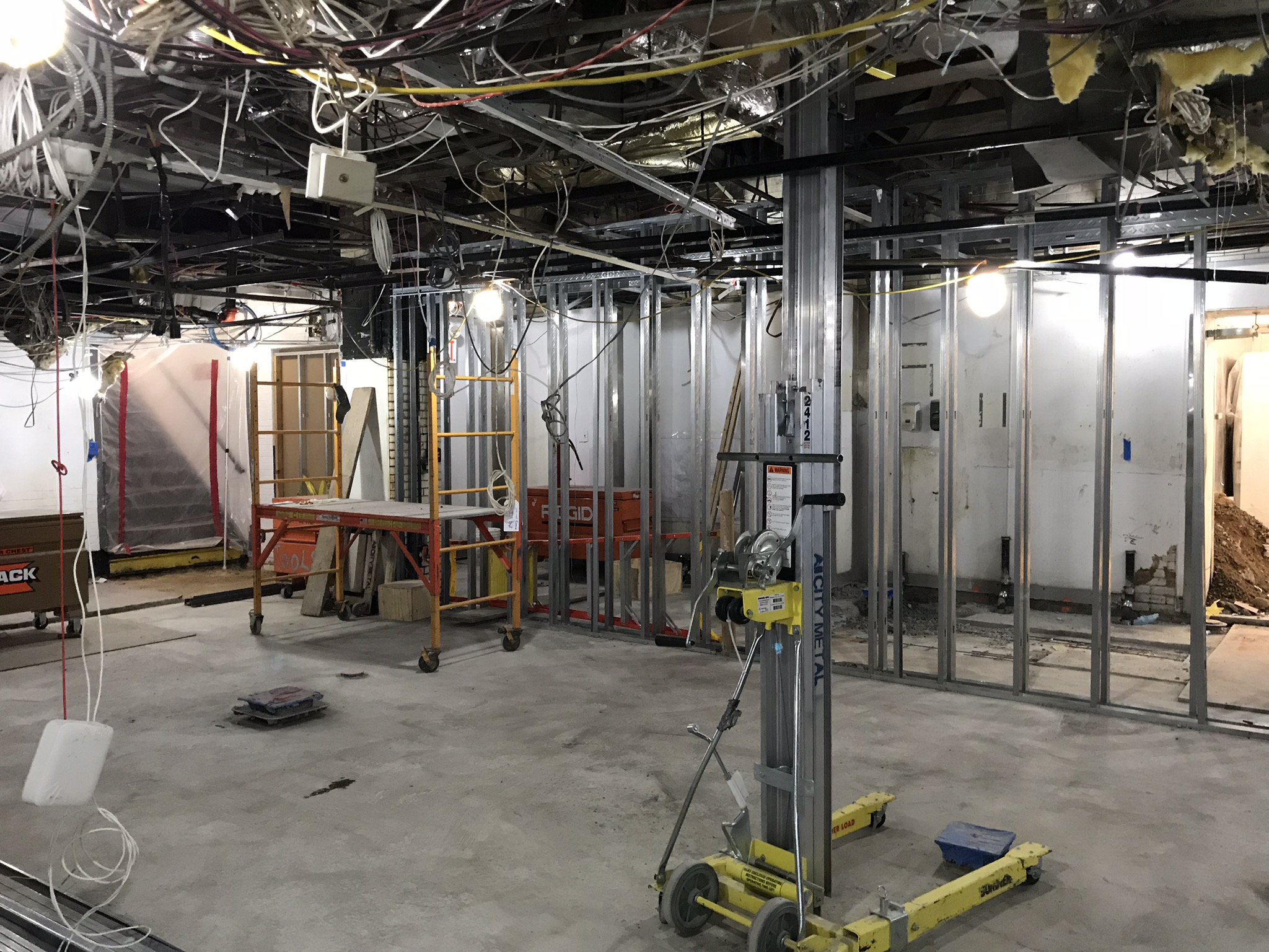 Electrical rough in and framing for The Carlyle kitchen