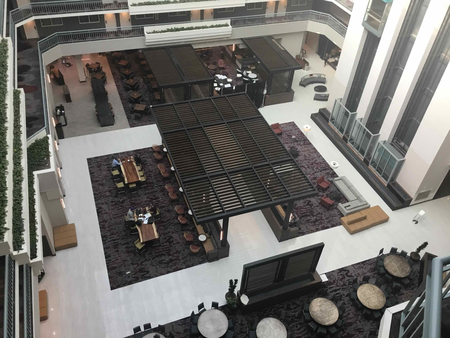 Aerial view inside Embassy Suites by Hilton Walnut Creek