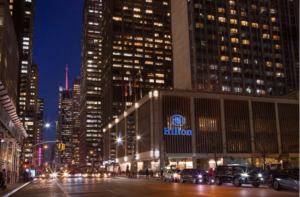 Hilton Midtown in NYC at night