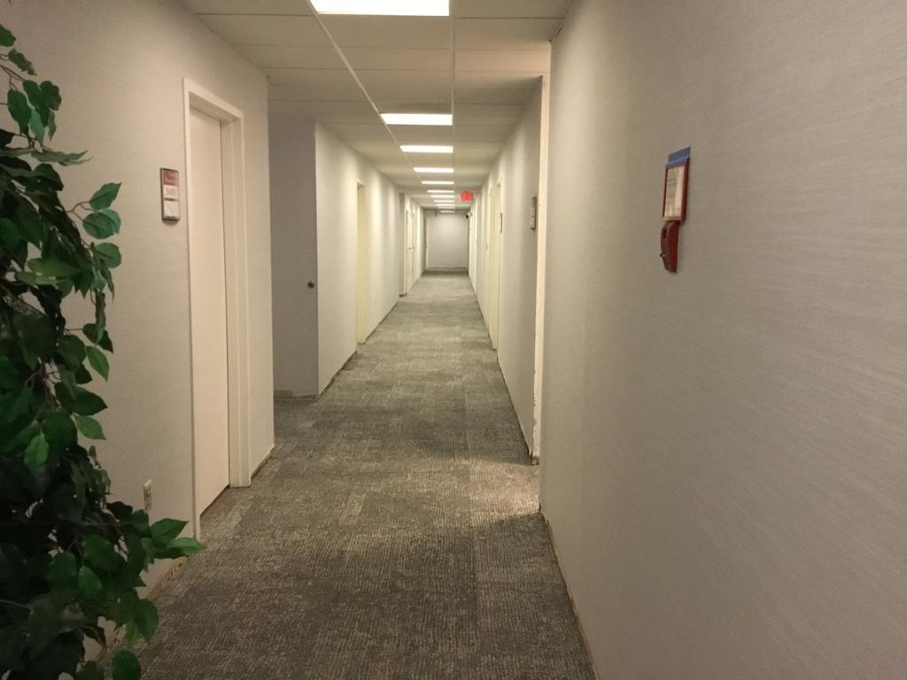 Cabin John renovated corridor