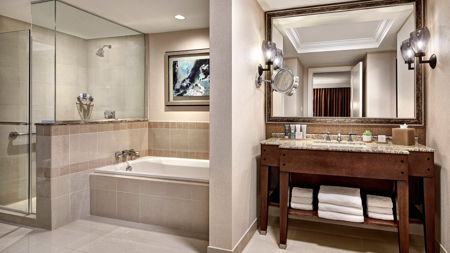 Renovated bathroom at JW Marriott in San Antonio