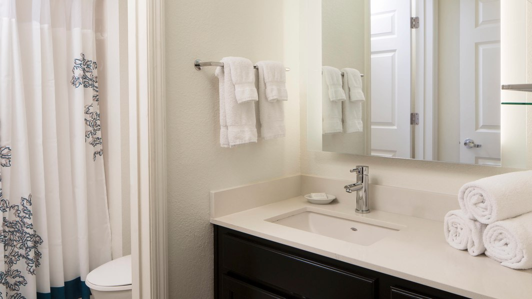 Renovated bathroom at Residence Inn By Marriott Orlando