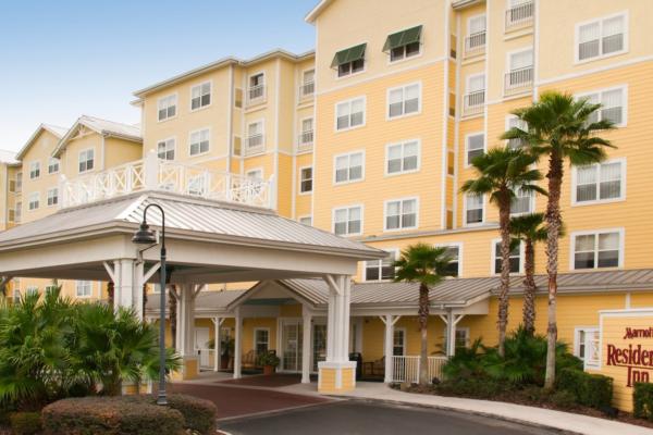 Outside the Marriott Residence Inn in Orlando