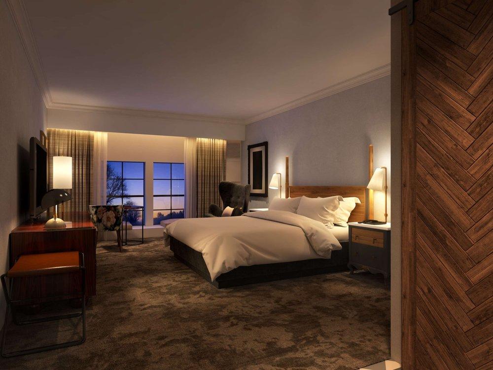 Hilton Pearl River guestroom