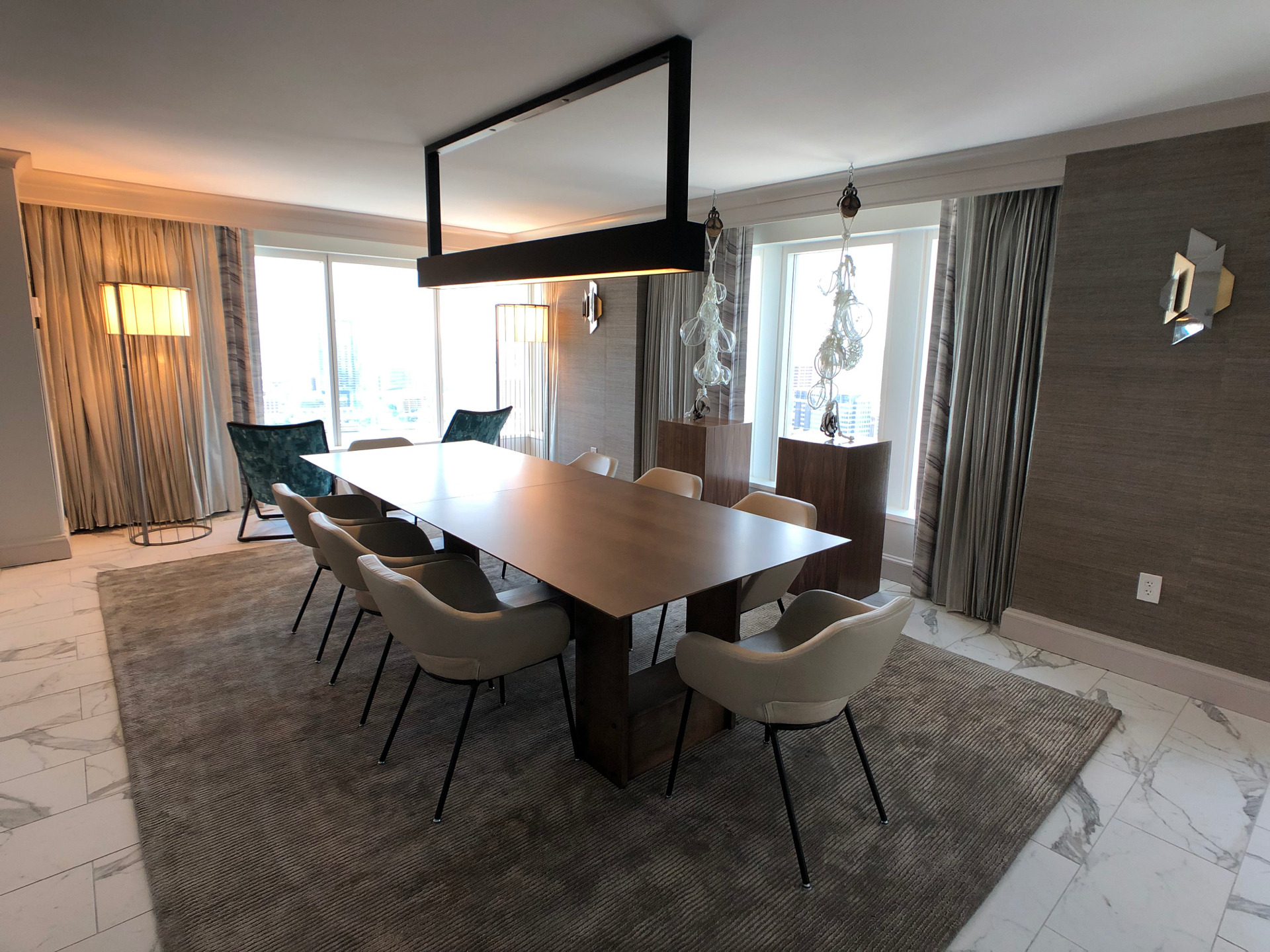 Baltimore Marriott Waterfront renovated dining space