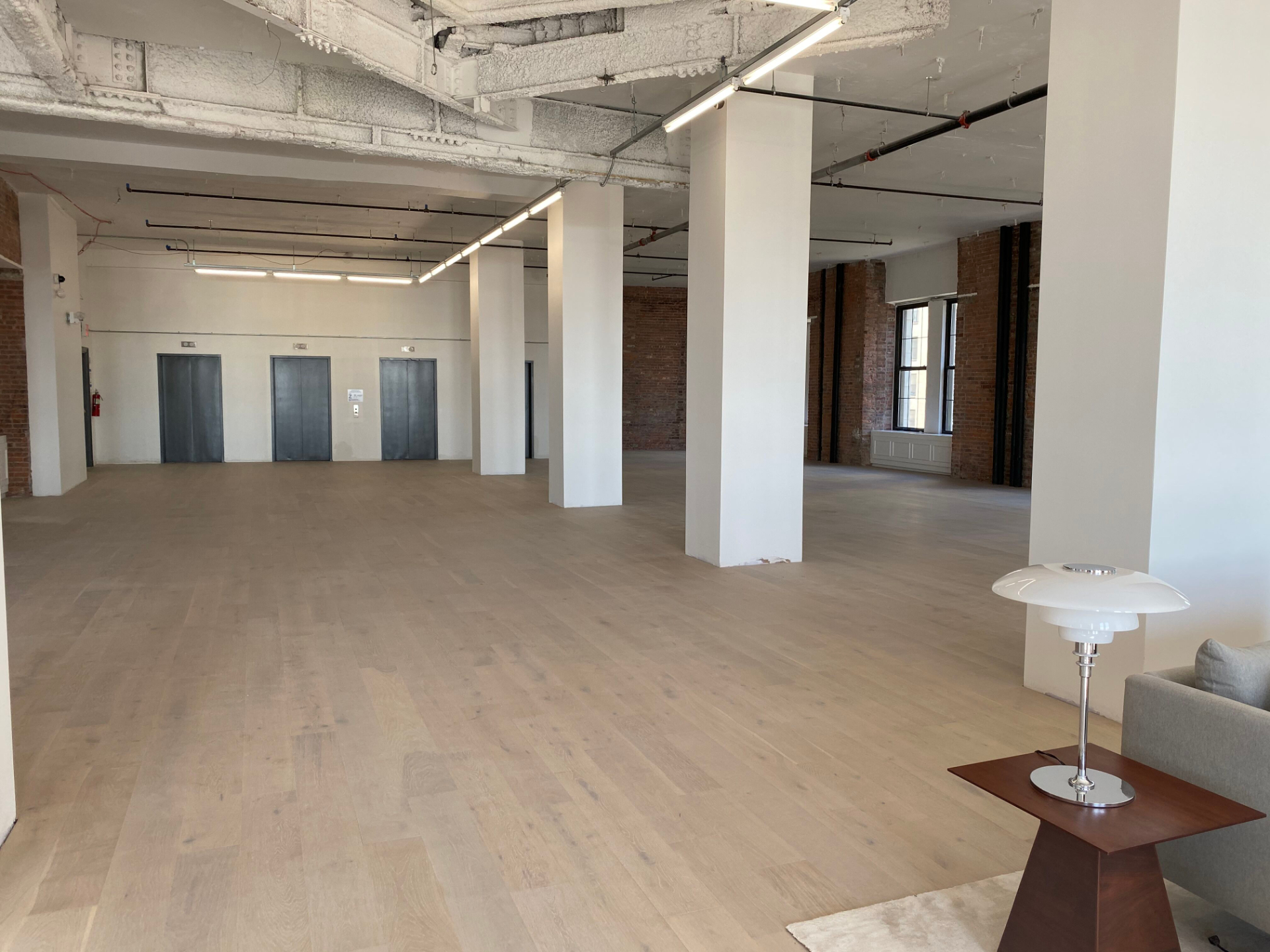 Completed model floor in the financial district of NYC