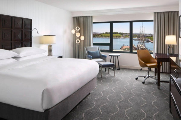 Guestroom at the Renaissance Baltimore Harborplace Hotel
