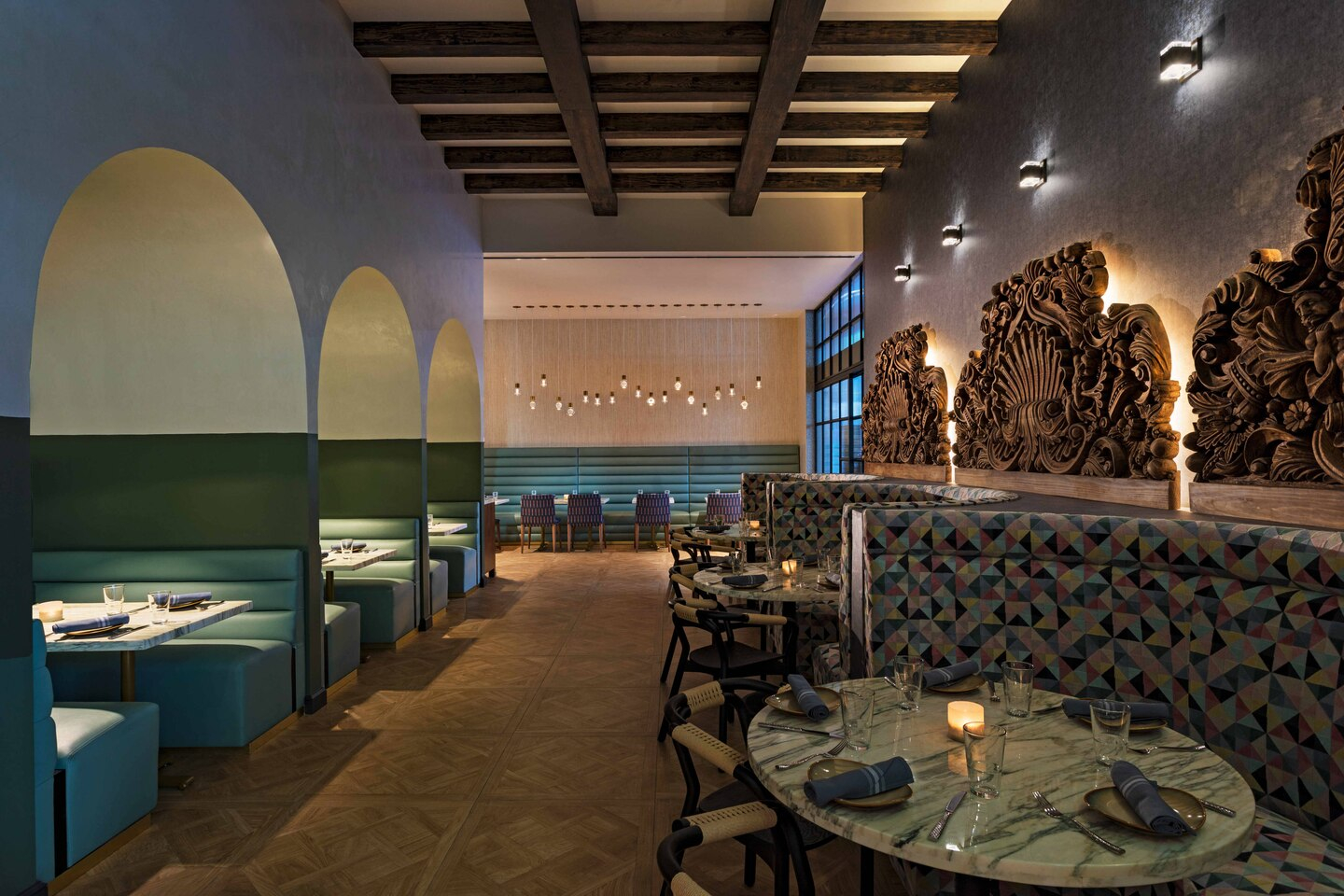 Renovated restaurant at The Notary Hotel