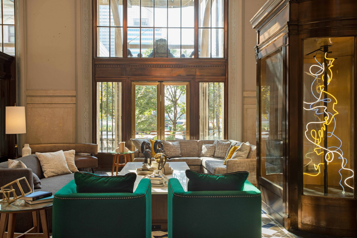 The Notary Hotel lobby seating