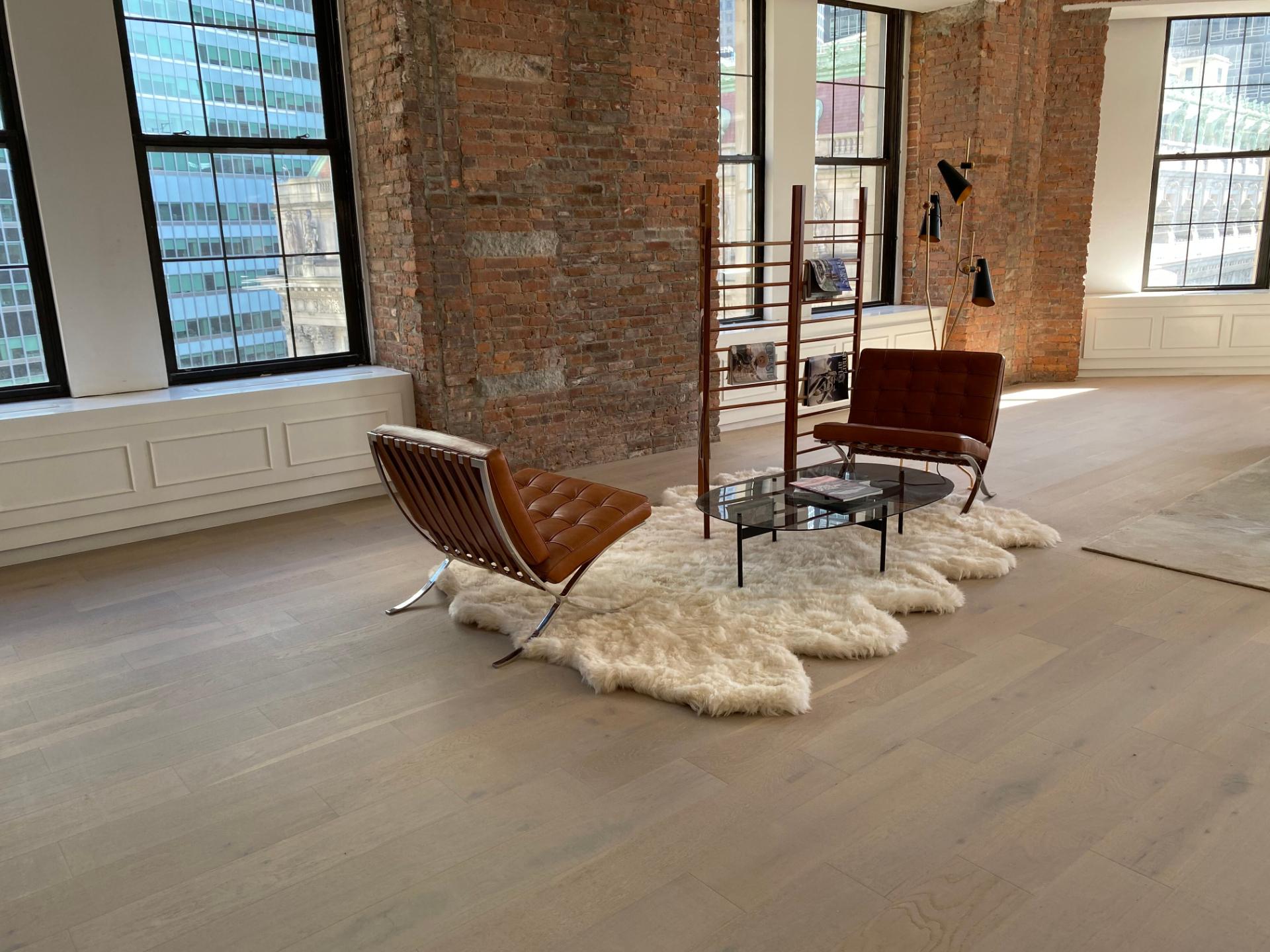 Completed model floor