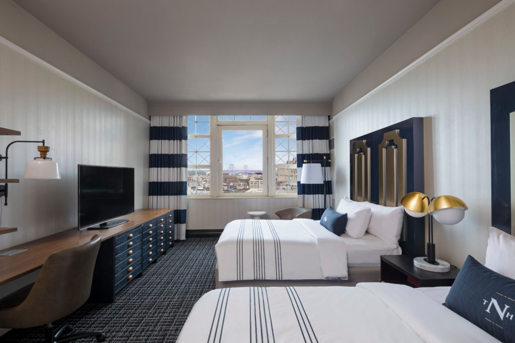 Two bed guestroom at the Notary Hotel