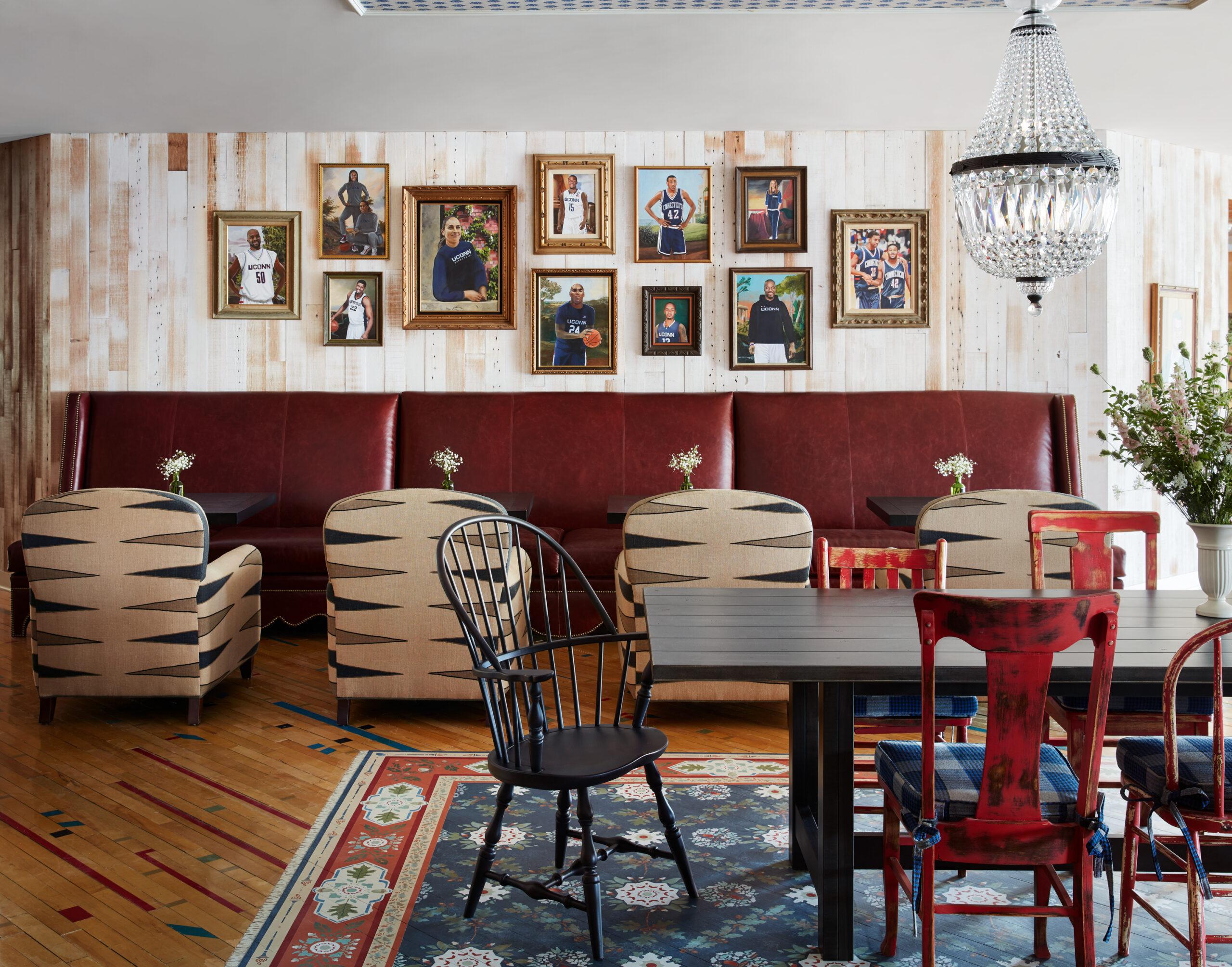Restaurant area at Graduate Storrs